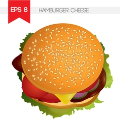 Hamburger cheese vector