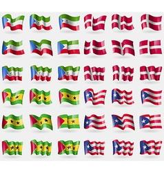 Equatorial guinea denmark sao tome and principe vector