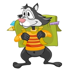 Cartoon character raccoon vector