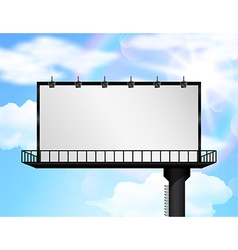 Billboard of blank for new advertisement vector