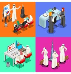 Arabian Business Isometric People vector image