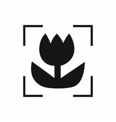 Macro lens mode icon simple style vector