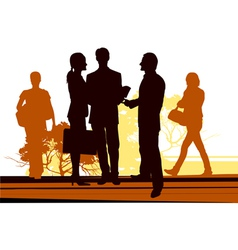 Business meet on the street vector image