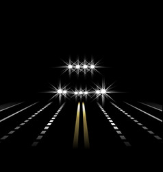 abstract light effects a car at night with lights vector image vector image