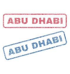Abu dhabi textile stamps vector