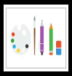 Art and Drawing Set vector image vector image