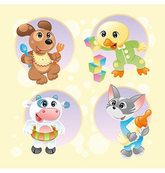 Baby pets background 2 vector
