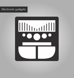 Black and white style icon music center vector