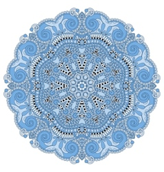 Blue colour circle lace ornament vector