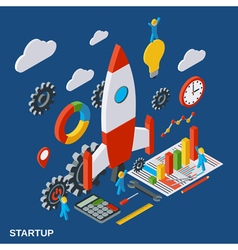 Business startup innovation concept vector image vector image