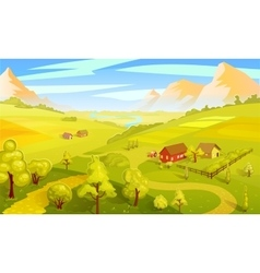 Colorful Summer Landscape Template vector image vector image