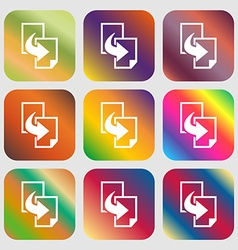Copy file sign icon Duplicate document symbol vector image
