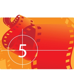 Film reel with countdown vector image vector image