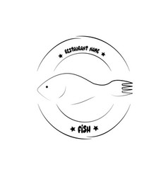 fish abstract design logo vector image
