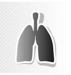 Human organs lungs sign new year blackish vector