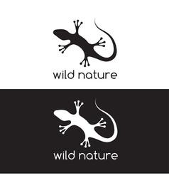 Lizard design template vector