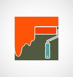 Logo paint roller vector image