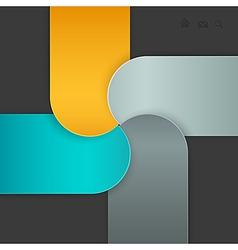 paper navigation vector image