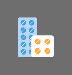 pills blister icon medical treatment concept vector image
