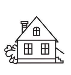 Sket one house house dwelling symbol vector