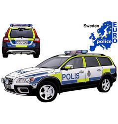Sweden police car vector
