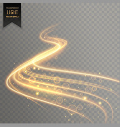 transparent light effect trail background vector image vector image