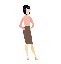 Young asian confident business woman vector