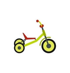 Tricycle icon flat style vector image
