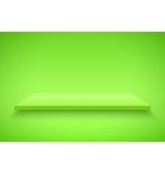 Green Presentation platform vector image