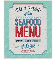 Seafood color vector