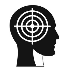 crosshair in human head icon simple style vector image