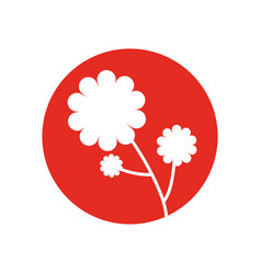Flower plant natural icon vector