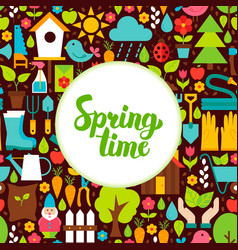 flat spring time greeting vector image