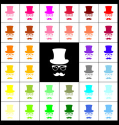 Hipster accessories design  felt-pen 33 vector