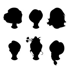 Hairstyle silhouettewomangirlfemale hair vector