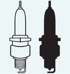 Vehicle spark plug vector image