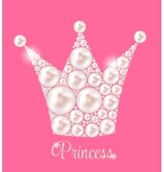 Princess crown pearl background vector