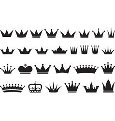 Simple black crowns vector