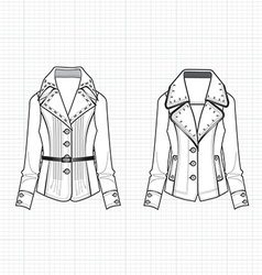 Fashionable clothes lady vector image