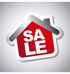 Sale house vector
