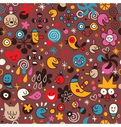 Fun cartoon pattern 7 vector