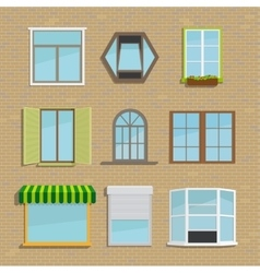 Set of icons different types windows vector