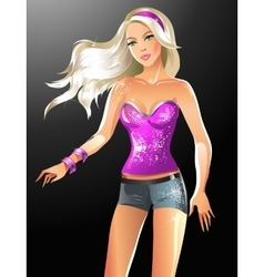 Fashion beautiful blonde wom vector