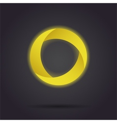 Golden segmented circle icon vector image