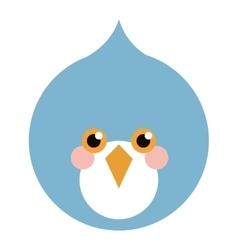 blue bird flat icon vector image