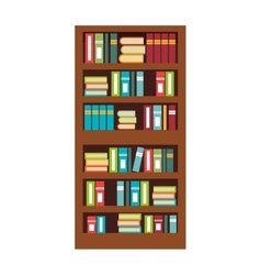 Home library with books isolated flat icon vector
