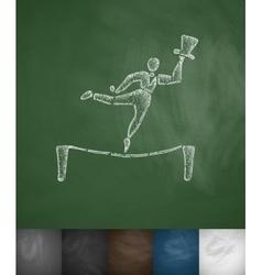 Balancer icon hand drawn vector