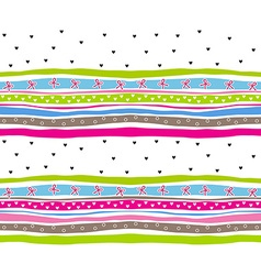 Beautiful colored seamless pattern with ribbons vector image vector image