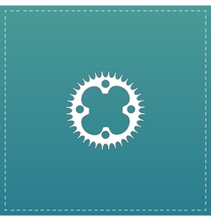 Bicycle sprocket flat icon vector