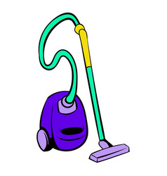Blue vacuum cleaner icon icon cartoon vector